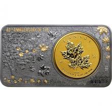 Zlatá minca Maple Leaf 40. výročie Exkluzívna edícia 2019 Proof