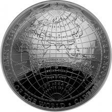 Stříbrná mince 1812 - Nová mapa světa 2019 Proof