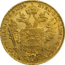 Zlatá minca Dukát Františka Jozefa I. 1856 E