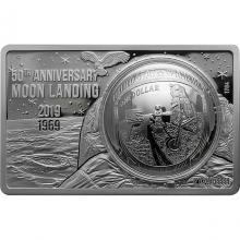 Strieborná minca 50. výročie pristátia na Mesiaci - Exkluzívna edícia 2019 Proof