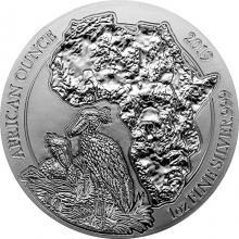 Stříbrná investiční mince Člunozobec africký Rwanda 1 Oz 2019