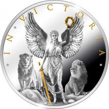 Stříbrná pozlacená mince In Victoria 2019 Proof