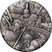 Stříbrná mince Válečnictví - římské legie 2 Oz 2018 Antique Standard