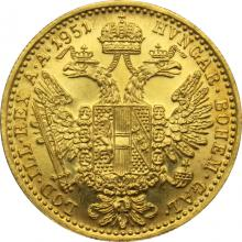 Zlatá minca Dukát Františka Jozefa I. 1951 (chyboražba)