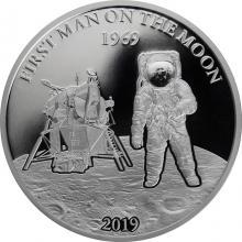 Strieborná minca Prvý človek na Mesiaci 1 Oz 2019 Proof