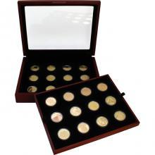 Biblické umění 10 NIS Sada zlatých mincí Izrael 1994 - 2018 Proof