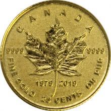 Zlatá mince Maple Leaf 40. výročí 2019 Proof