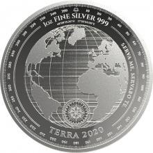 Stříbrná investiční mince Terra Tokelau 1 Oz 2020