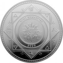 Stříbrná investiční mince Vivat Humanitas Tokelau 1 Oz 2020