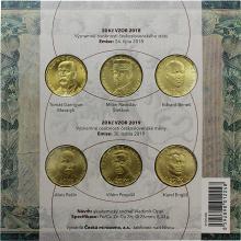 Sada oběžných mincí 20 Kč Významné osobnosti československého státu a měny Standard 2019