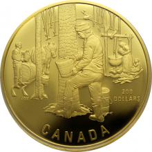 Zlatá minca Zber javorové miazgy - kanadský obrad jari Proof 1995