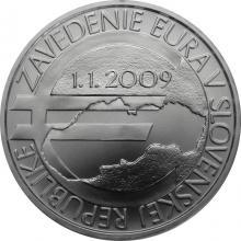 Stříbrná mince Zavedení eura na Slovensku - 10. výročí 2019 Standard