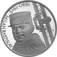 Strieborná minca Milan Rastislav Štefánik - 100. výročie úmrtia 2019 Proof