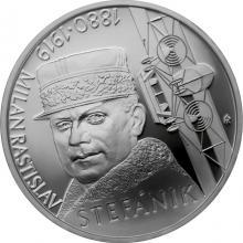 Stříbrná mince Milan Rastislav Štefánik - 100. výročí úmrtí 2019 Proof