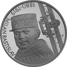 Strieborná minca Milan Rastislav Štefánik - 100. výročie úmrtia 2019 Standard