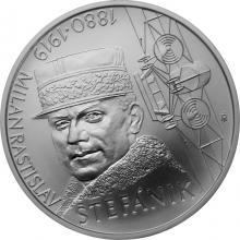 Stříbrná mince Milan Rastislav Štefánik - 100. výročí úmrtí 2019 Standard