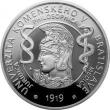 Stříbrná mince Univerzita Komenského v Bratislavě - 100. výročí vzniku 2019 Proof