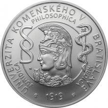 Stříbrná mince Univerzita Komenského v Bratislavě - 100. výročí vzniku 2019 Standardf