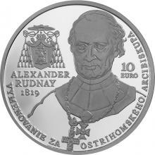 Stříbrná mince A. Rudnay ostřihomským arcibiskupem - 200. výročí 2019 Proof