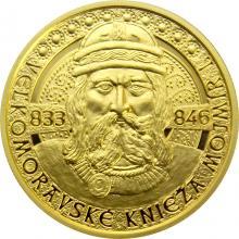 Zlatá mince Velkomoravský kníže Mojmír I. 2019 Proof