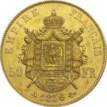 Zlatá minca 50 Frank Napoleon III. 1856 A