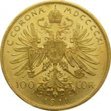 Zlatá mince Stokoruna Františka Josefa I. Rakouská ražba 1911