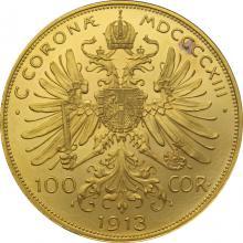 Zlatá mince Stokoruna Františka Josefa I. Rakouská ražba 1913