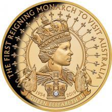 Zlatá minca Prvý vládnuci monarcha navštívil Austráliu 1 Oz 2019 Proof
