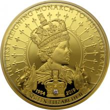 Zlatá mince První vládnoucí monarcha navštívil Austrálii 1 Oz 2019 Proof
