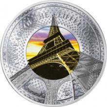 Strieborná kolorovaná minca Translucent Treasures: 130. výročie Eiffelovej Veže v Paríži 5