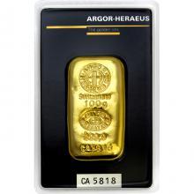 100g Argor Heraeus SA Švajčiarsko Investičná zlatá tehlička Liata