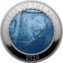 Stříbrná mince 5 Oz Year of the Rat - Rok Myši 2020 Perleť Proof