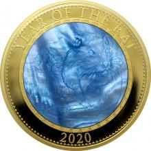 Zlatá mince 5 Oz Year of the Rat - Rok Myši 2020 Perleť Proof