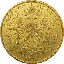 Zlatá mince Stokoruna Františka Josefa I. Rakouská ražba 1910