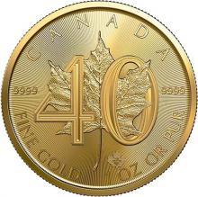 Zlatá investičná minca Maple Leaf 1 Oz - 40. výročie 2019