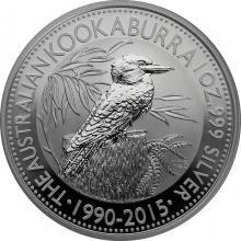 Stříbrná investiční mince Kookaburra Ledňáček 1 Oz 2015