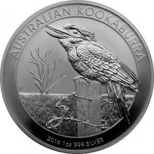 Stříbrná investiční mince Kookaburra Ledňáček 1 Oz 2016