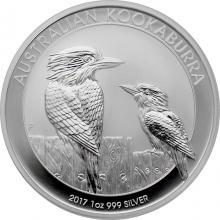 Stříbrná investiční mince Kookaburra Ledňáček 1 Oz 2017