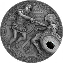 Stříbrná mince Polobohové - Achilles 2 Oz High Relief 2017 Antique Standard