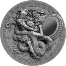 Stříbrná mince Polobohové - Perseus 2 Oz High Relief 2018 Antique Standard