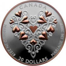 Strieborná minca Svadba 2019 Proof