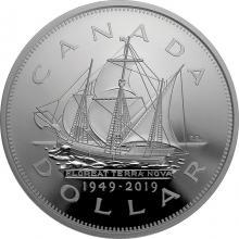 Stříbrná mince Připojení Newfoundlandu ke Kanadě - 70. výročí 5 Oz 2019 Proof