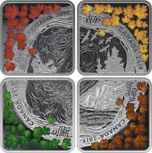 Sada štyroch strieborných mincí Štyri elementy 2019 Proof