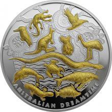 Stříbrná mince 5 Oz Australian Dreamtime 2019 Proof