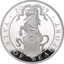 Strieborná minca 5 Oz Yale of Beauforts 2019 Proof
