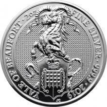 Stříbrná investiční mince The Queen´s Beasts The Yale 2 Oz 2019