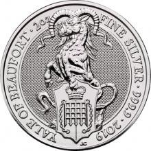 Stříbrná investiční mince The Queen's Beasts The Yale 2 Oz 2019