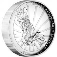 Strieborná minca Orol klínoocasý 1 Oz High Relief 2019 Proof