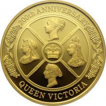 Zlatá mince 2 Oz Královna Viktorie 200. výročí narození 2019 Proof