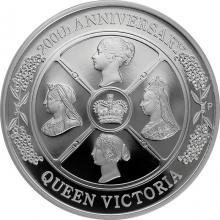 Stříbrná mince Královna Viktorie 200. výročí narození 1 Oz 2019 Proof